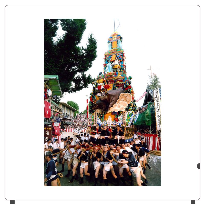 櫛田神社を走りきる